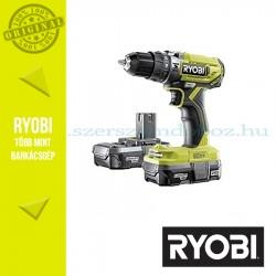 Ryobi R18PD2-213G One Plus 18 V nagyteljesítményű kétsebességes ütvefúró-csavarozó