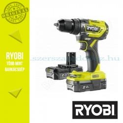 Ryobi R18PD51-220S One Plus 18 V szénkefe nélküli nagyteljesítményű kompakt ütvefúró-csavarozó fémtokmánnyal