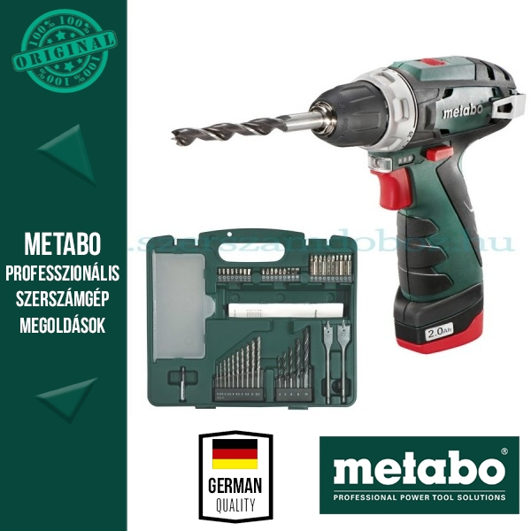 Metabo akkus fúrócsavarozó PowerMaxx BS Basic készlet