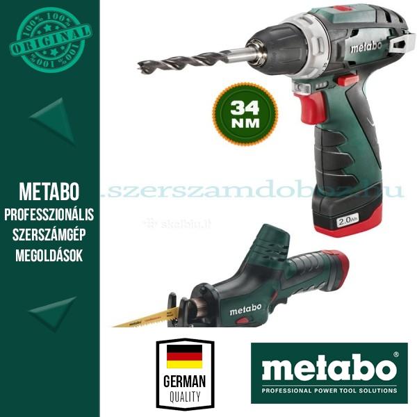 Metabo akkus ComboSet  10,8V csavarbehajtó + kardfűrész