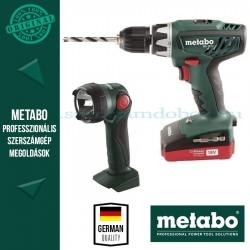 Metabo BS 18 Li Akkus fúrócsavarbehajtó + lámpa