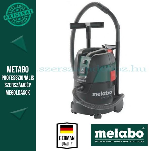 Metabo ASA 25 L PC Száraz-nedves porszívó