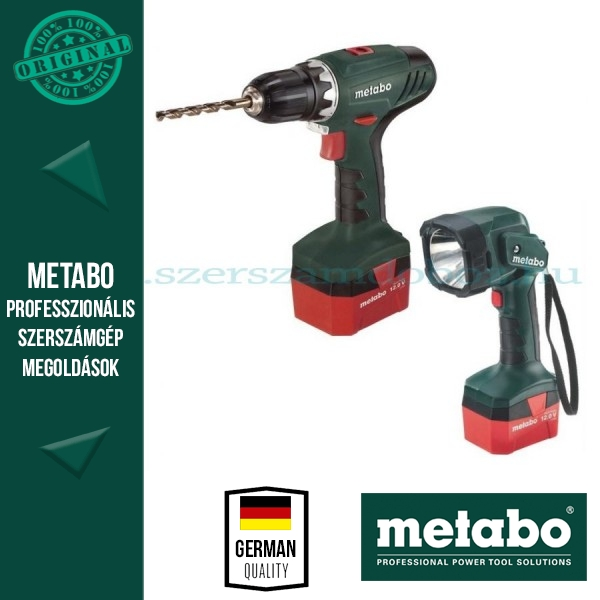 Metabo BS 12 NiCd Akkus fúrócsavarbehajtó + ULA lámpa