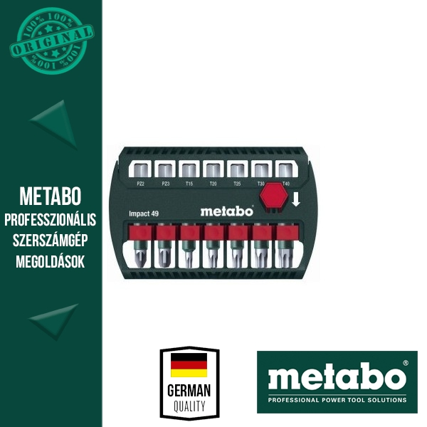 Metabo 628850000 Bit-Készlet 49 mm 7 részes ütésálló