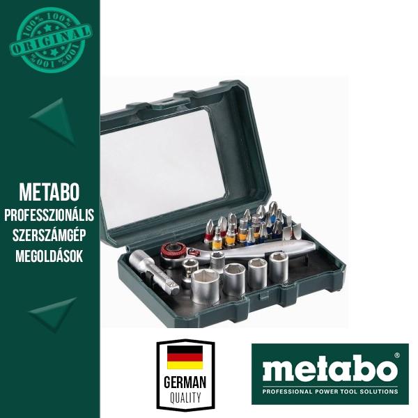 Metabo 626701000 Bit- és racsniskészlet 26 részes