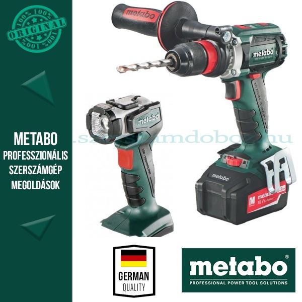 Metabo SB 18 LTX Quick Ütvefúró-csavarozó + ULA 14,4-18V LED lámpa