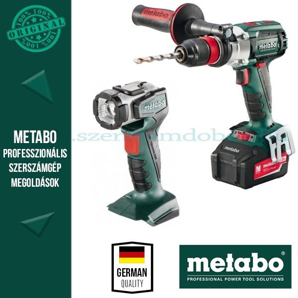 Metabo SB 18 LTX BL Quick Ütvefúró-csavarozó+ ULA 14,4-18V LED lámpa