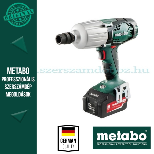 Metabo SSW 18 LTX 600 Akkus ütvecsavarbehajtó 5,2Ah