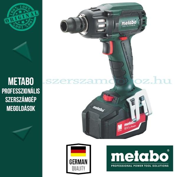 Metabo SSW 18 LTX BL 400 Akkus ütvecsavarbehajtó 4,0Ah