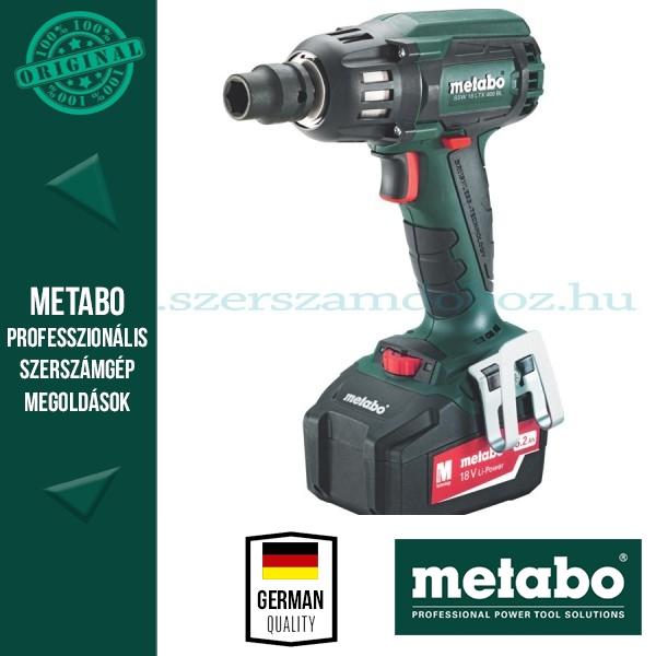 Metabo SSW 18 LTX BL 400 Akkus ütvecsavarbehajtó 5,2Ah