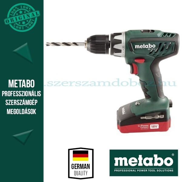 Metabo BS 18 Li Akkus fúrócsavarbehajtó (alapgép)