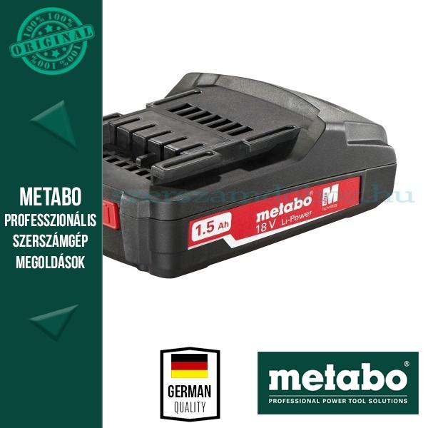 Metabo Akkumulátor 18V 1,5Ah Li-Power