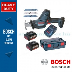 Bosch GSA 18 V-LI C akkus szablyafűrész L-Boxxban, 2 x 5,0 Ah akkuval, tartozékkészlettel