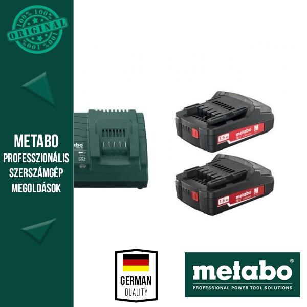 Metabo 685052000 Basic Akkumulátor szett 2db 1.5Ah 18V akku + 1 db ASC 30-36 Töltő