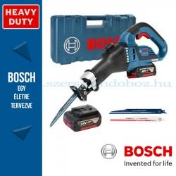 Bosch GSA 18V-32 akkus szablyafűrész szerszámtáskában, 2 x 5,0 Ah akkuval, tartozékkészlettel
