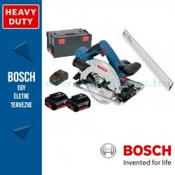 Bosch GKS 18V-57 G akkus körfűrész L-BOXX-ban, 2 x 5,0 Ah akkuval, tartozékkészlettel