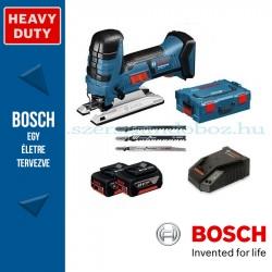 Bosch GST 18 V-LI S Professional akkus szúrófűrész L-BOXX tárolóban, 2 x 5,0 Ah akkuval, tartozékkészlettel
