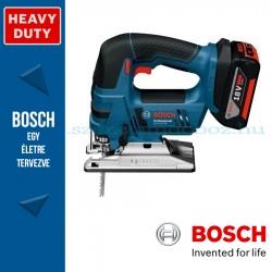 Bosch GST 18 V-LI B Professional akkus szúrófűrész L-BOXX -ban 2 x 5,0 Ah akkuval, tartozékkészlettel