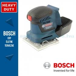 Bosch GSS 18V-10 Professional Solo akkus rezgőcsiszoló alapgép kartondobozban, tartozékkészlettel