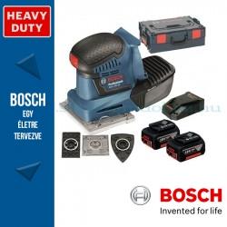 Bosch GSS 18V-10 Professional akkus rezgőcsiszoló L-Boxxban, 2x5.0Ah akkuval, tartozékkészlettel