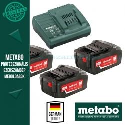 Metabo 685049000 Basic Akkumulátor szett 3db 4,0Ah 18V akku Li + 1 db ASC 30-36 Töltő