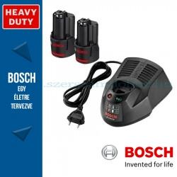 Bosch kezdőkészlet: 2 x GBA 12V 3,0 Ah akku + GAL 1230 CV töltő