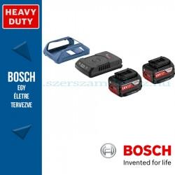 Bosch kezdőkészlet: 2 x GBA 18V 4,0 Ah W akku + GAL 1830 W vezeték nélküli töltő