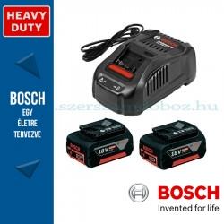 Bosch kezdőkészlet: 2 x GBA 18V 5.0 Ah akku + GAL 1880 CV töltő