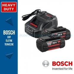 Bosch kezdőkészlet: 2 x GBA 36V 6,0 Ah akku + GAL 3680 CV töltő
