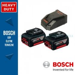 Bosch kezdőkészlet: 2 x GBA 18V 4,0 Ah akku + AL 1860 CV töltő