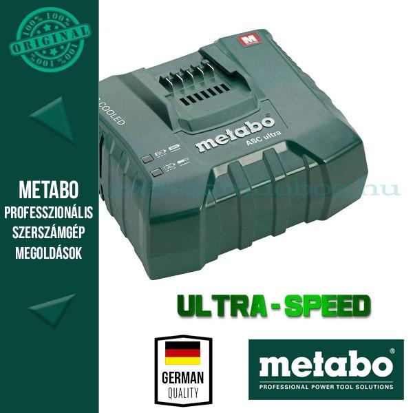 Metabo 627265000 ASC 14,4-36V ULTRA Szupergyors akkutöltő