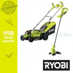 Ryobi RLM1833LT1825MF OLM1833H fűnyíró + OLT1825M szegélyvágó akkus gépcsomag 1x4.0Ah akkuval és töltővel