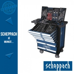 Scheppach műhelykocsi TW1000 263db-os 7 fiókkal