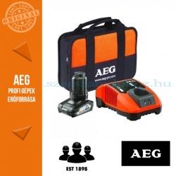 AEG SETL1240BLK 12 V akkumulátor szett 1 x 12 V 4,0 Ah akku + töltő, táska