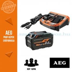 AEG SETL1890RHDBLK 18 V akkumulátor szett: 1 x 18 V HD 9,0 Ah akkumulátor, BLK1218 töltő