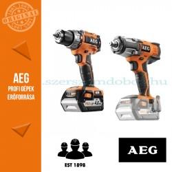 AEG 4935BAT191 18V akkus erőcsomag (Fúró-csavarbehajtó + Ütvecsavarozó)