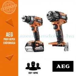 AEG 4935BAT193 18V akkus erőcsomag (Ütvefúró-csavarbehajtó + Olajnyomásos ütvecsavarozó)