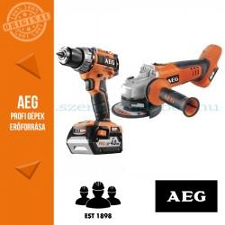 AEG 4935BAT194 18V akkus erőcsomag (Fúró-csavarbehajtó +Sarokcsiszoló)