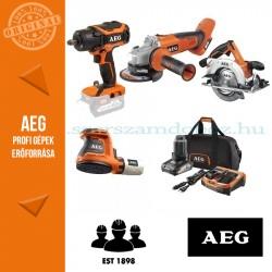 AEG 4935BAT195 18V 4 gépes akkus erőcsomag + akku szett