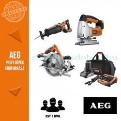 AEG 4935SAW18BL 18V 3 gépes akkus erőcsomag + akku szett)