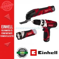Einhell TE-TK 12 Li akkus szett (RT-CD 12 Li csavarozó + RT-CL 12 Li lámpa + RT-MG 12 Li multicsiszoló)