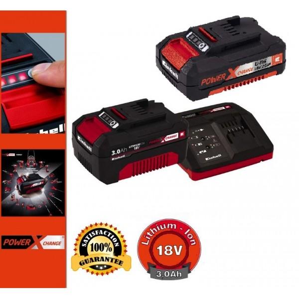 Einhell 18V PXC Starter Kit 3,0Ah+2,0Ah Akkumulátor + Töltő