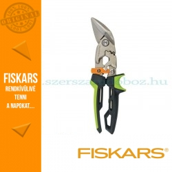 Fiskars POWERGEAR AVIATION lemezvágó olló offset, jobb