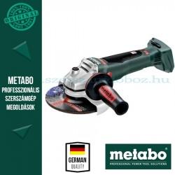 Metabo WB 18 LTX BL 150 Quick akkus sarokcsiszoló alapgép kofferben