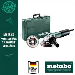 Metabo W 850-125 850W sarokcsiszoló Set gyt, koffer