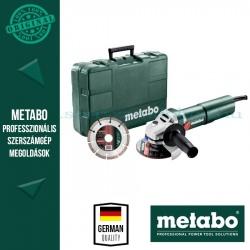 Metabo W 1100-125 sarokcsiszoló set kofferben