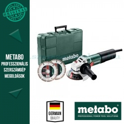 Metabo WEQ 1400-125 sarokcsiszoló set kofferben