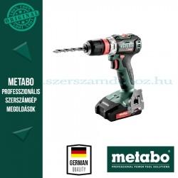 Metabo BS 18 L BL Q akkus fúró-csavarozó (2x 2,0Ah, SC 60 Plus)