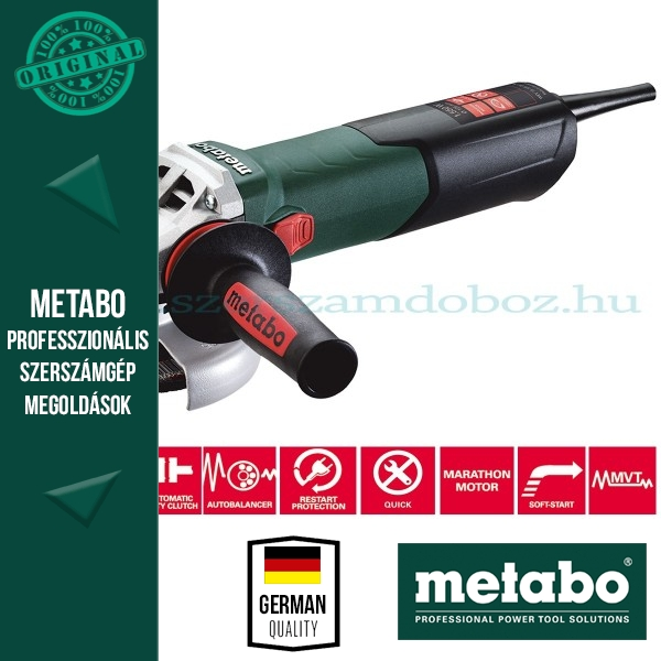 "Metabo WE 15-125 Quick Sarokcsiszoló ""Autobalancer"""