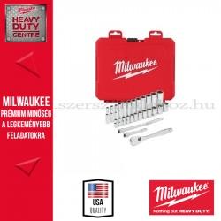 """MILWAUKEE 1/4"""" Racsnis dugókulcs készlet metrikus méret (28 részes)"""